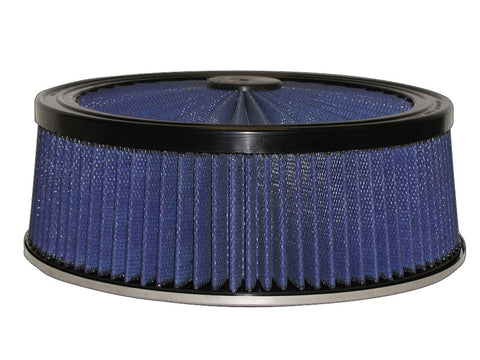 aFe MagnumFLOW Air Filters Round Racing P5R A/F TOP Racer 14D x 5H (Blk/Blue)