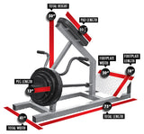 LEGEND FITNESS INCLINE LEVER ROW - 3110