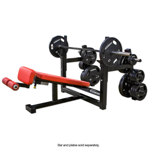 LEGEND FITNESS OLYMPIC DECLINE BENCH W/STORAGE - 3157