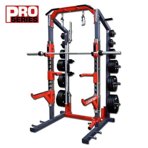legend fitness pro series half rack