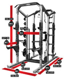 LEGEND FITNESS PRO SERIES DOUBLE-SIDED HALF CAGE - 3227