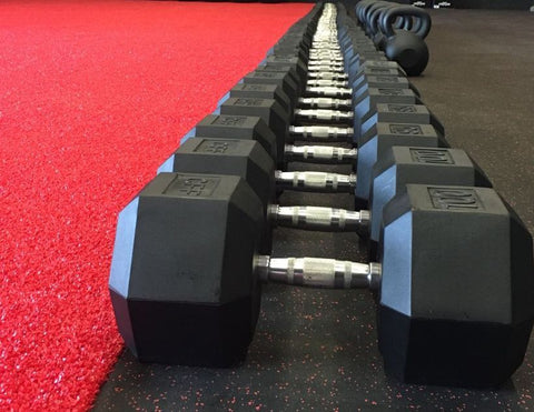 CFF Rubber Hex Dumbbells - Limited Lifetime Warranty - CFF FIT