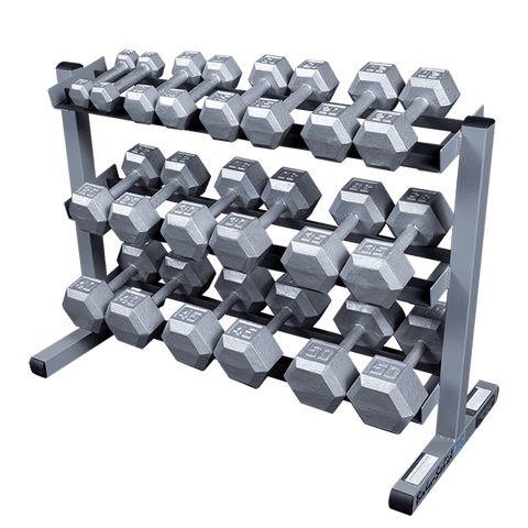 BODY SOLID STEEL HEX DUMBBELLS - 5-50 LB. SET