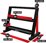 SHORT THREE TEIR KETTLEBELL RACK - 3317
