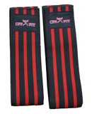 rED WEIGHTLIFTING KNEE WRAPS