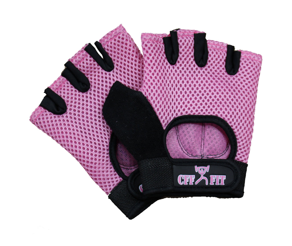 Mesh Weight Lifting Gloves: CFF NYLON MESH WEIGHTLIFTING GLOVES W/RUBBER GRIP
