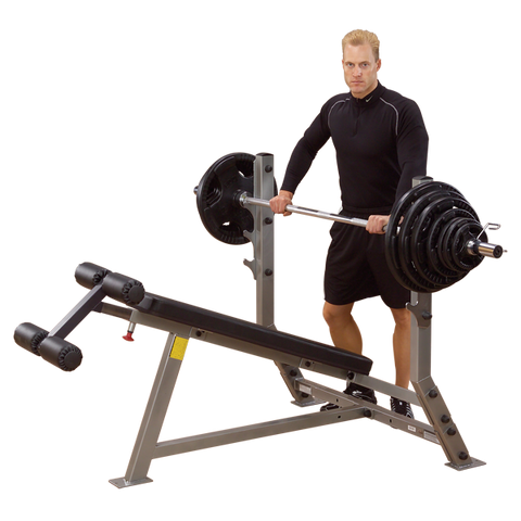 BODY SOLID PRO CLUBLINE DECLINE OLYMPIC BENCH - SDB351G