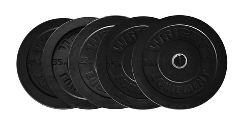 wright solid rubber bumper plates