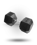 YORK RUBBER HEX DUMBBELL - 125 LBS.