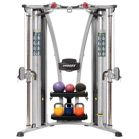 hoist_hd_3000_dual_pulley_functional_trainer_med ball rack