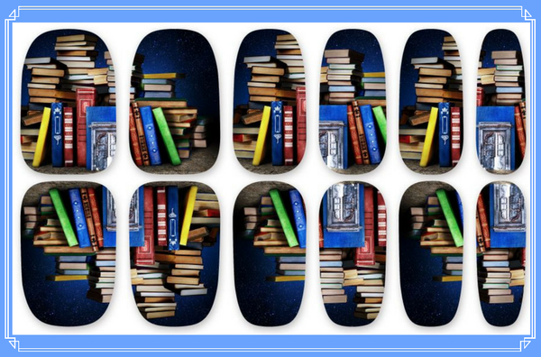 Nail Wraps - Feeling a bit bookish, well you need these then!   Please note that depending on the length of your nails part of the design may not show.