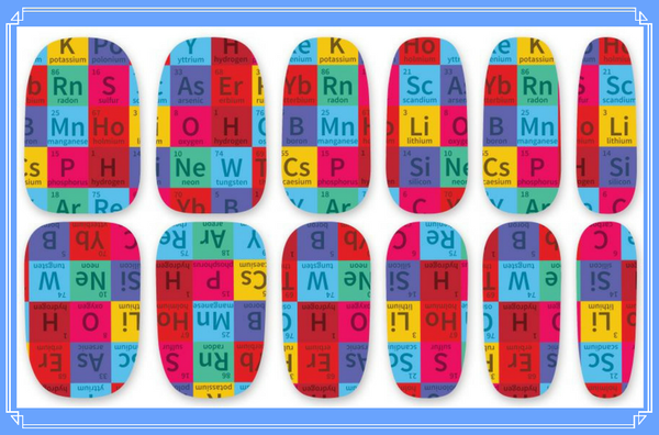 Nail Wraps - OK so it's an artistic version of the periodic table, but it's still the Elements.   Please note that depending on the length of your nails part of the design may not show.