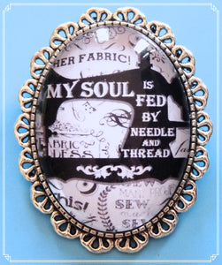 My Soul Is Fed brooch is part of my Colour Your World collection.