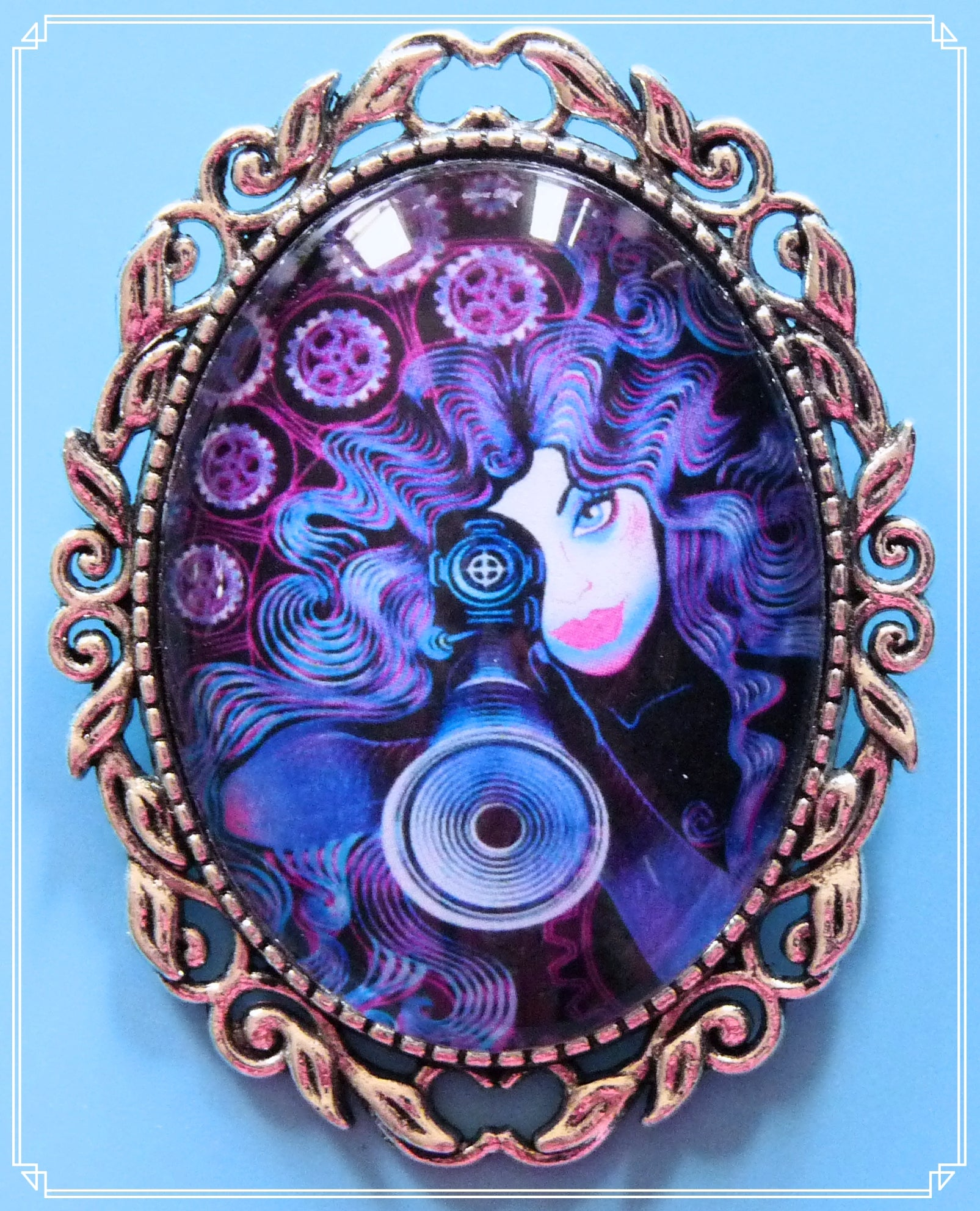 The Violet brooch is part of my Steampunk collection.