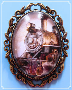 The Locomotive brooch is part of my Steampunk collection.