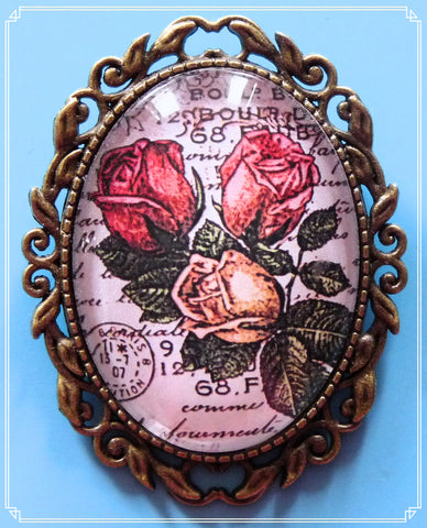 The Vintage Roses brooch is part of my Steampunk collection.
