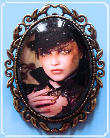 The Miss Ives brooch is part of my Steampunk collection, her name was inspired by the TV show Penny Dreadful.
