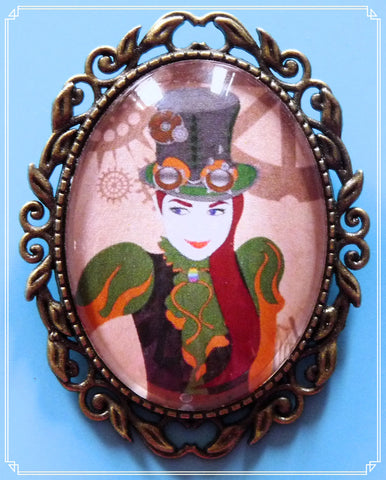 Clementine brooch is part of my Steampunk collection.