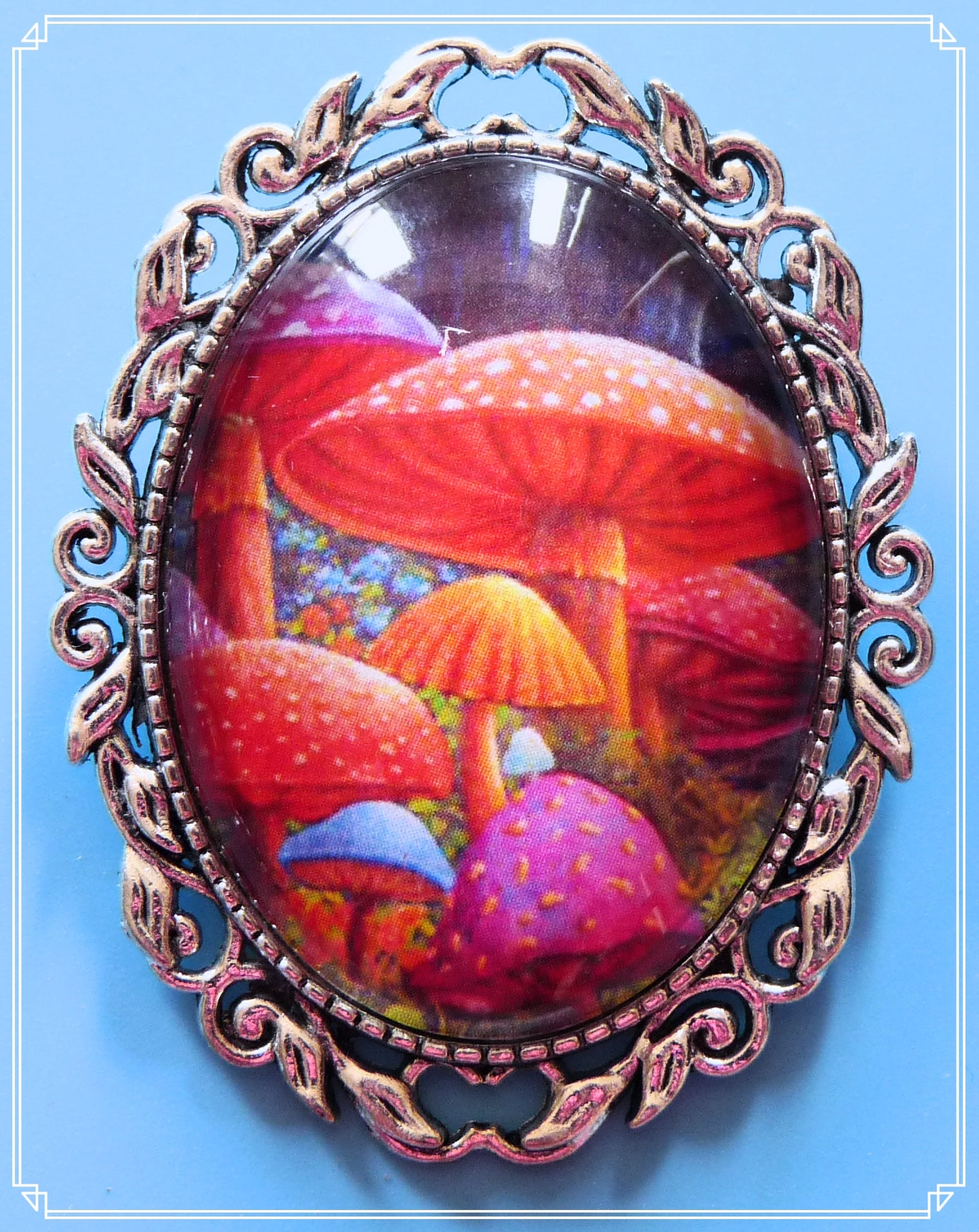The Magical Toadstools brooch is part of my Fantasy collection and inspired by Alice in Wonderland.