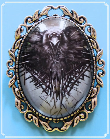 The Three Eyed Raven brooch is part of my fantasy collection and inspired by Game of Thrones.