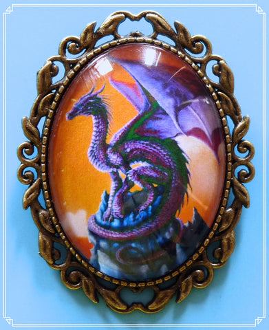 The Skrill dragon brooch is part of my fantasy collection and named after the purple dragon in How to Train Your Dragon.