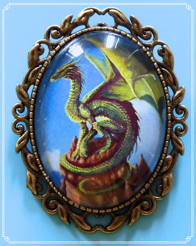 The Rhaegal brooch is part of my fantasy collection and is named after one of the dragons in Game of Thrones.
