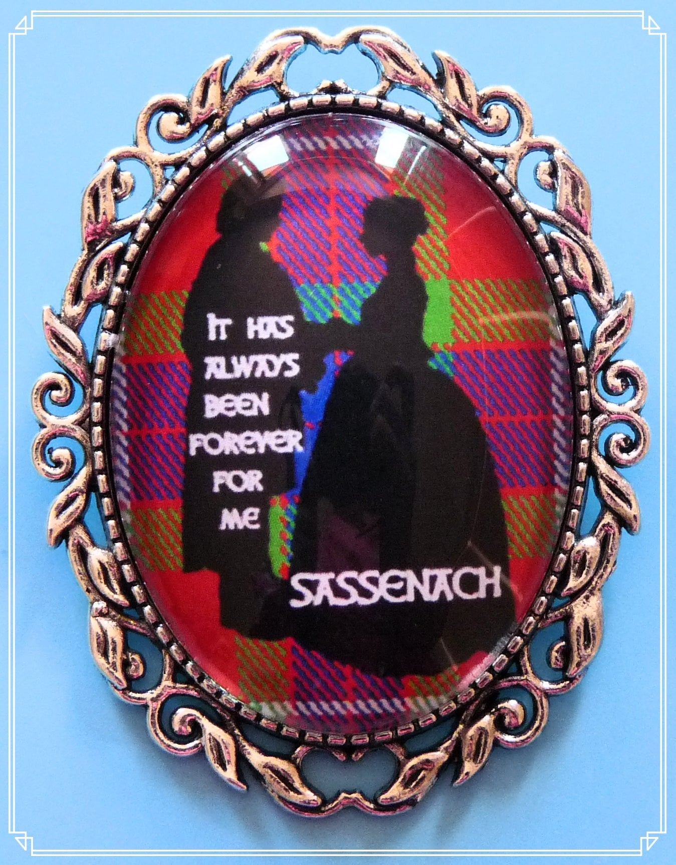 Forever brooch inspired by Outlander.