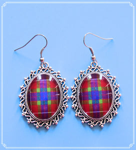 Tartan drop earrings to compliment my Outlander series.