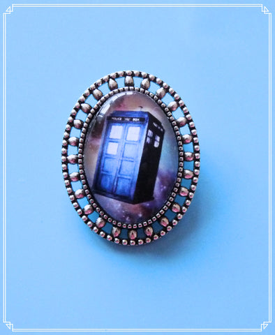 Custom order for Mara - tardis mini brooch single