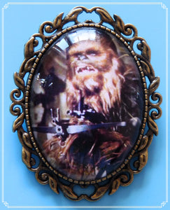 The Chewie brooch is part of my Sci-Fi collection and a homage to the original Star Wars films.