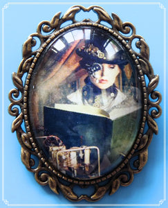 The Steampunk Scholar brooch is part of my Steampunk collection.