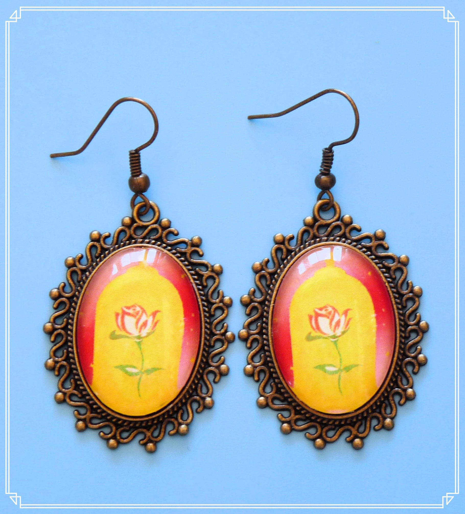 Belle Enchanted Rose statement drop earrings are part of my Pop Culture collection.