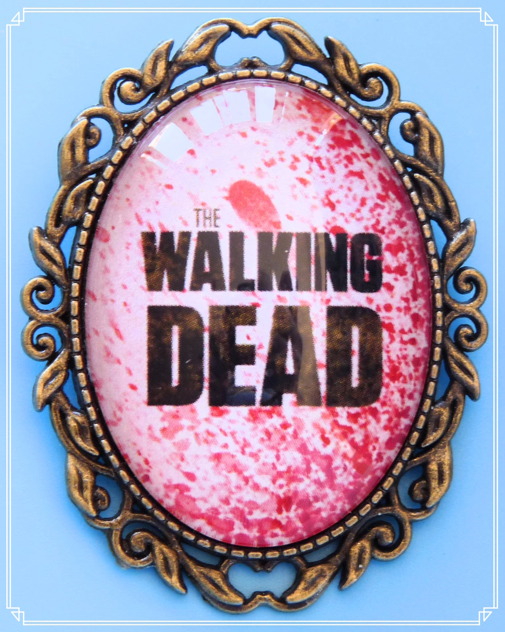 The Dead Walk brooch is part of my Pop Culture collection and inspired by the TV show The Walking Dead.