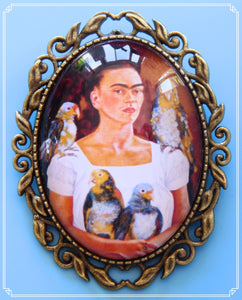This image is a painting my Frida Kahlo called 'Me and My Parrots' and was painted in 19741.  It is part of my Colour Your World collection.
