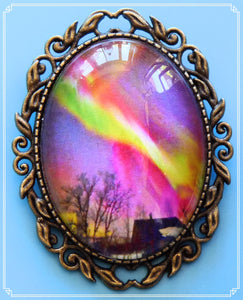 Northern Lights - Fire in the Sky brooch