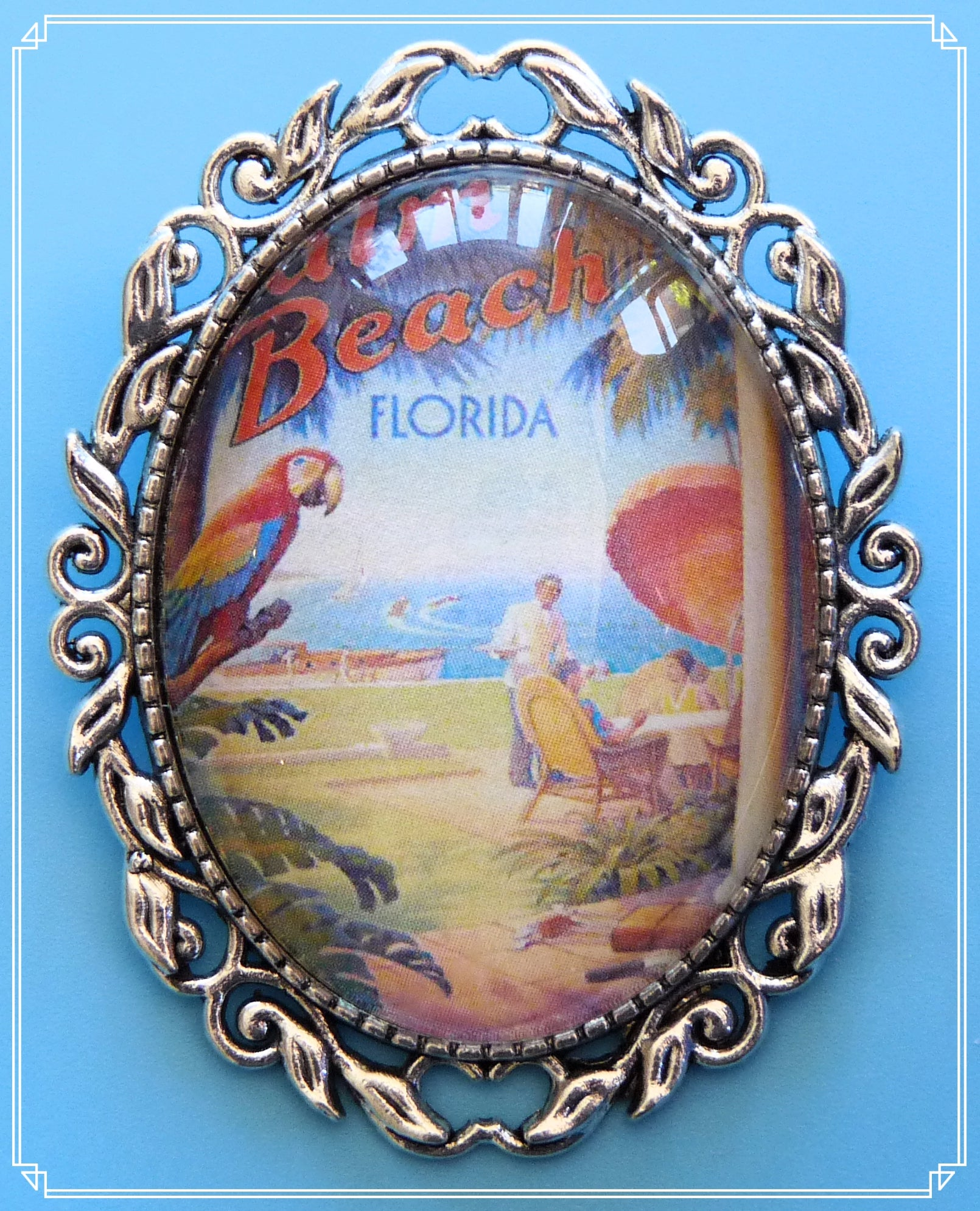 Summertime Memories - Palm Beach holiday brooch