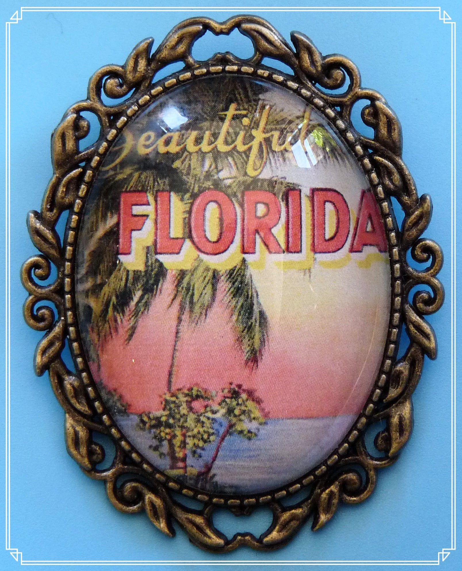 Summertime Memories - Beautiful Florida brooch