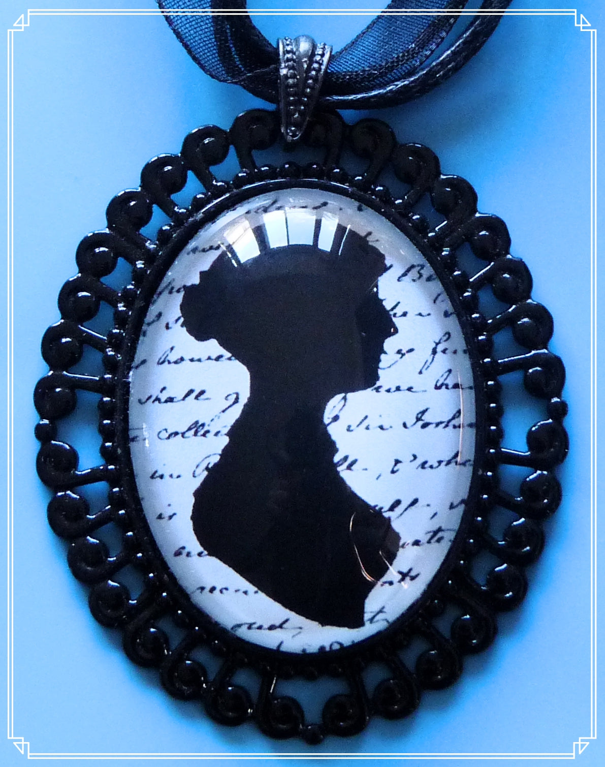 Velvet & Lace - Jane Austen necklace