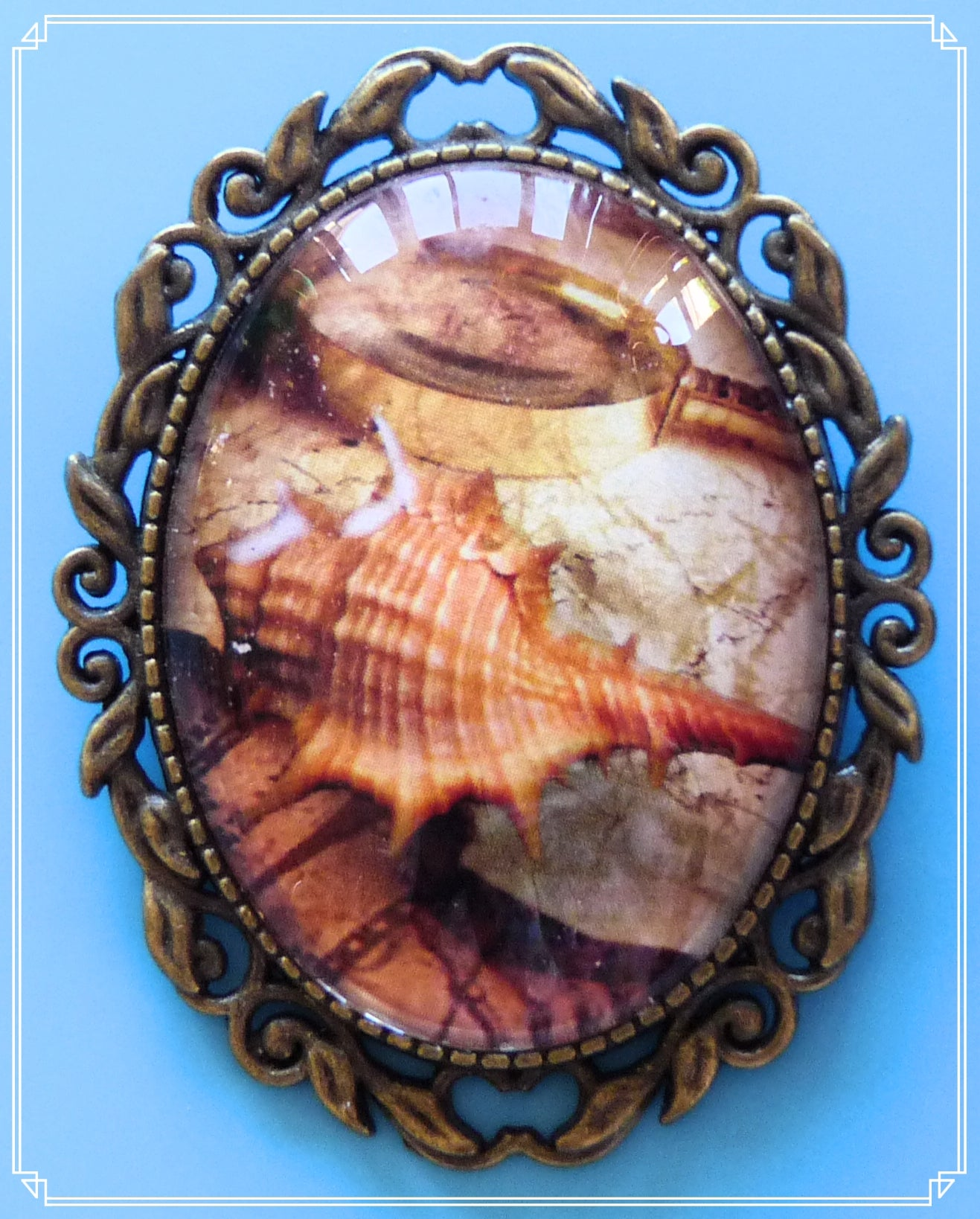 Enchanted Oceans - Mermaid Peak Pirate Map brooch