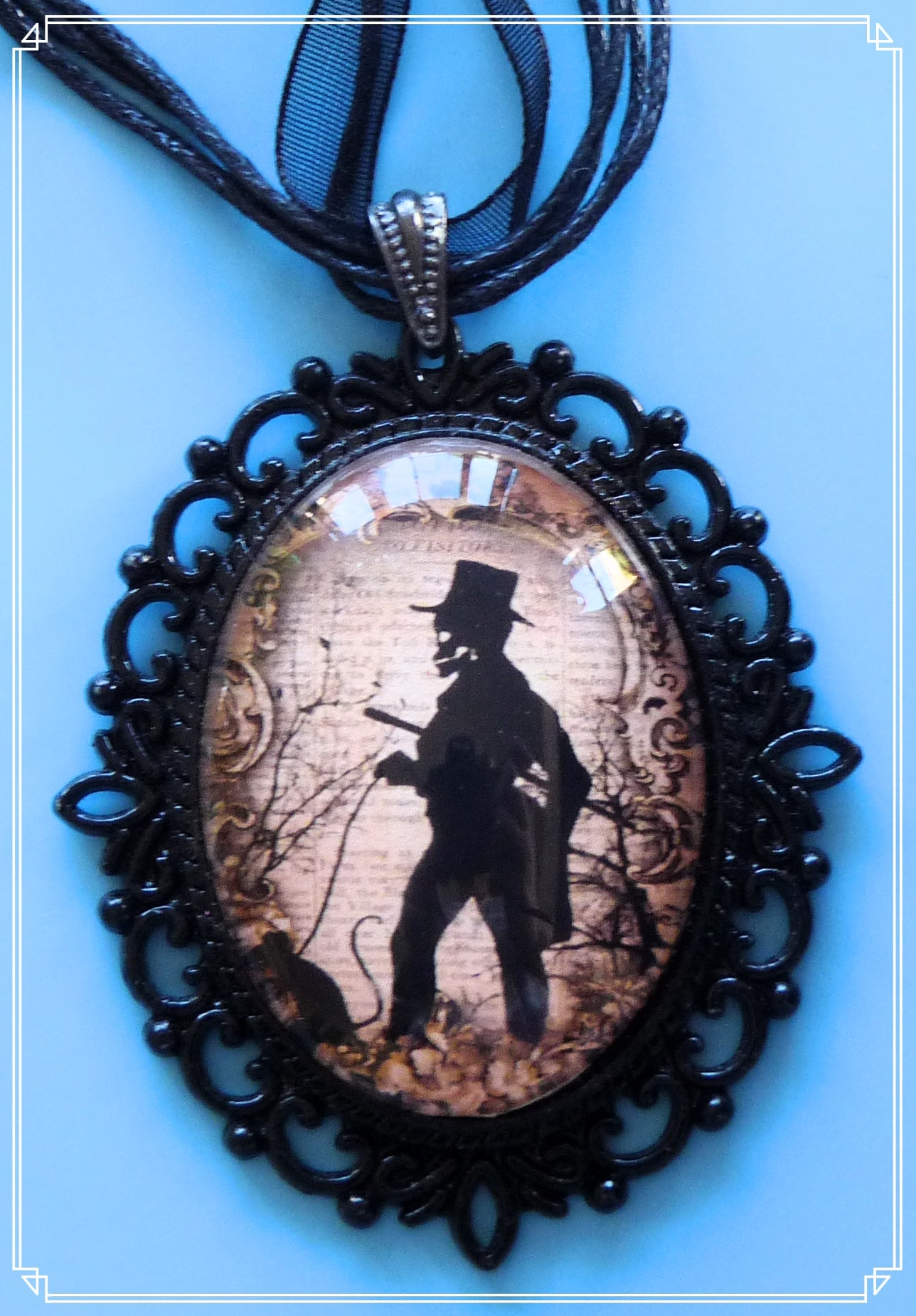 Gilbert the Skeletal Gentleman necklace