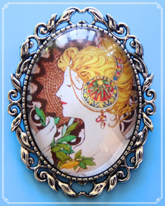 Feather was created in 1899 by Alphonse Mucha.  It is part of my Colour Your World collection.