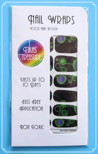 Steampunk green - Nail wraps