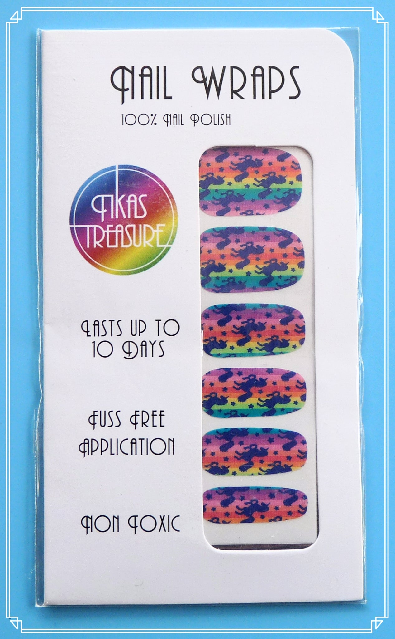 Unicorn dreams bright - Nail wraps