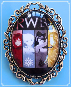 Custom Order for Jessica - RWBY brooch and earrings