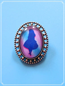 Alice (blue) mini brooch single, part of my Fantasy collection and suitable for girls of all sizes!