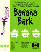 Banana bark dog treats