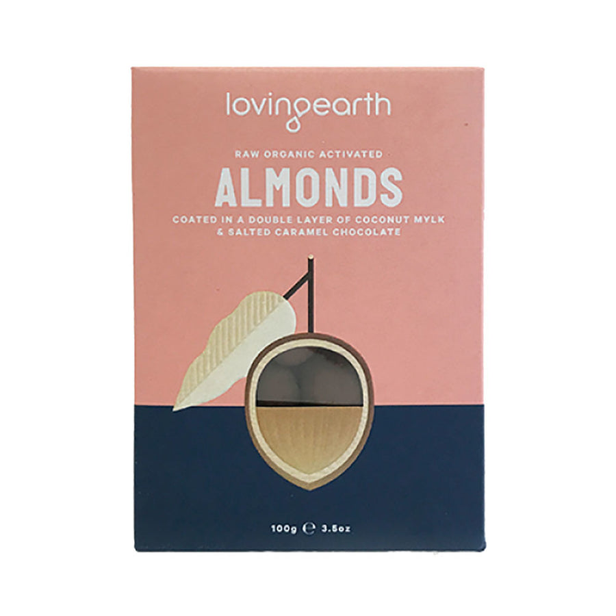 Chocolate Coated Almonds In Mylk & Caramel Chocolate 60g - Loving Earth - Pop Up Kindness