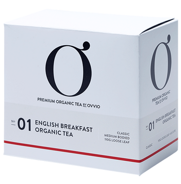 NO: 01 English Breakfast Organic Tea Bags - Ovvio - Pop Up Kindness