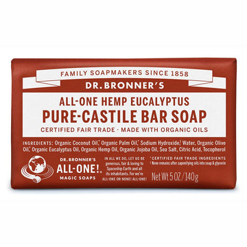 Dr. Bronner's Pure-Castile Bar Soap - Eucalyptus - Dr Bonners - Pop Up Kindness