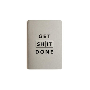 Get Shit Done Classic Notebook - Grey with Black Foil - Mi Goals - Pop Up Kindness